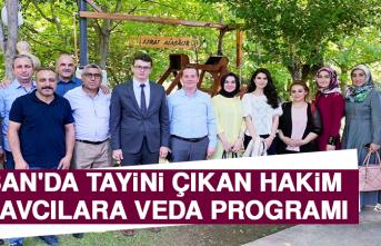 Keban'da Tayini Çıkan Hakim ve Savcılara Veda Programı