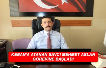 Keban'a Atanan Savcı Mehmet Aslan Görevine Başladı