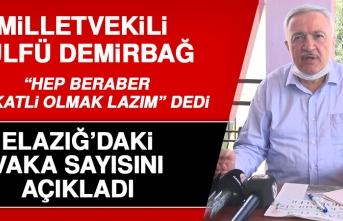 Milletvekili Demirbağ, Elazığlıları Uyardı ve Vaka Sayısını Açıkladı