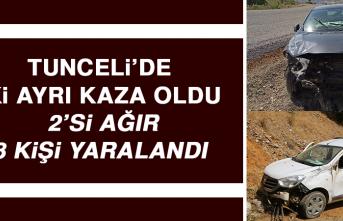 Tunceli'de İki Ayrı Kaza Oldu, 2'si Ağır 8 Kişi Yaralandı