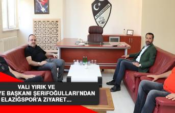 Vali Yırık ve Belediye Başkanı Şerifoğulları'ndan Elazığspor'a ziyaret…