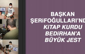 Başkan Şerifoğulları'ndan Kitap Kurdu Bedirhan'a Jest