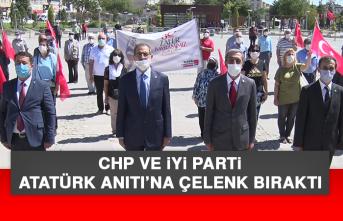 CHP ve İYİ Parti, Atatürk Anıtı'na Çelenk Bıraktı