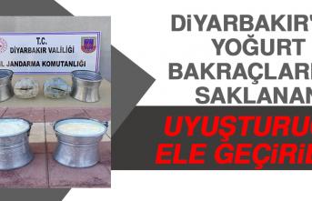 Diyarbakır'da Yoğurt Bakraçlarına Saklanan Uyuşturucu Ele Geçirildi
