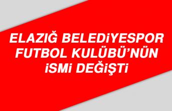 Elazığ Belediyespor Futbol Kulübü'nün İsmi Değişti