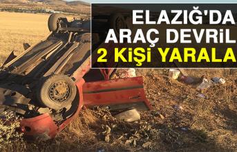 Elazığ'da Araç Devrildi: 2 Yaralı