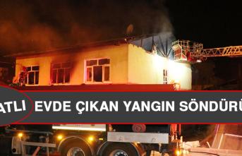 Elazığ'da İki Katlı Evde Çıkan Yangın Söndürüldü