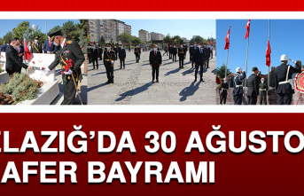 Elazığ'da 30 Ağustos Zafer Bayramı