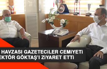 Fırat Havzası Gazeteciler Cemiyeti Rektör Prof. Dr. Göktaş'ı Ziyaret Etti