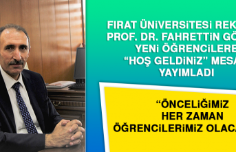 """Rektör Prof. Dr. Göktaş, Yeni Öğrencilere """"Hoş Geldiniz"""" Mesajı Yayımladı"""