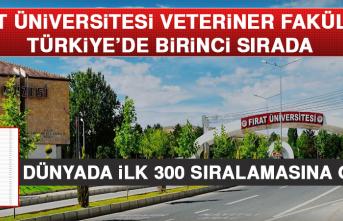 Fırat Üniversitesi Veteriner Fakültesi, Türkiye'de Birinci Sırada