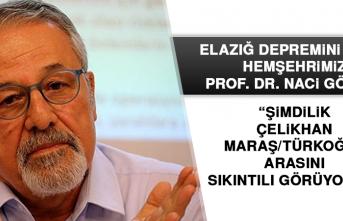 """Prof. Dr. Görür: """"Şimdilik Çelikhan-Maraş/Türkoğlu arasını sıkıntılı görüyoruz"""""""
