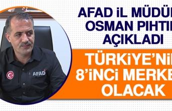 İl Müdürü Pıhtılı Açıkladı Türkiye'nin 8'inci Merkezi Olacak