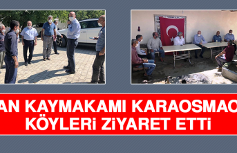 Keban Kaymakamı Karaosmaoğlu, Köyleri Ziyaret Etti