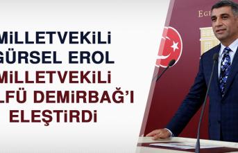 Milletvekili Gürsel Erol, Milletvekili Zülfü Demirbağ'ı eleştirdi