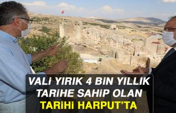 Vali Yırık 4 Bin Yıllık Tarihe Sahip Olan Tarihi Harput'ta