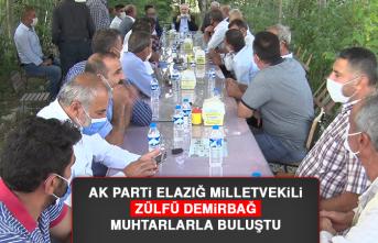 AK Parti Elazığ Milletvekili Demirbağ, Muhtarlarla Buluştu