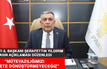 AK Parti İl Başkanı Yıldırım Basın Açıklaması Düzenledi