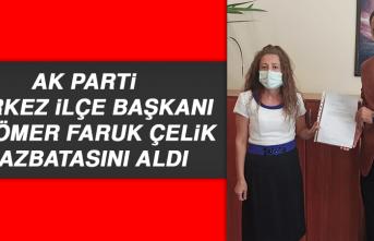 AK Parti Merkez İlçe Başkanı Av. Ömer Faruk Çelik, Mazbatasını Aldı