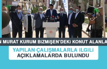 Bakan Murat Kurum Yapılan Çalışmalarla İlgili Açıklamalarda Bulundu