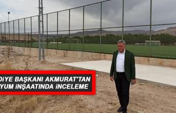 Belediye Başkanı Akmurat'tan Stadyum İnşaatında İnceleme