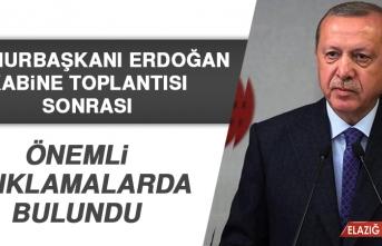 Cumhurbaşkanı Erdoğan, Önemli Açıklamalarda Bulundu