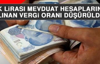 Cumhurbaşkanlığı Kararıyla Türk Lirası Mevduat Hesaplarından Alınan Vergi Oranı Düşürüldü!