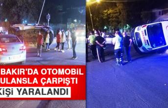 DİYARBAKIR'DA Otomobil Ambulansla Çarpıştı