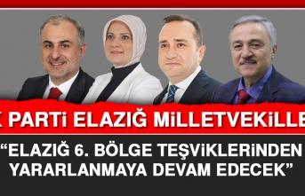 """""""ELAZIĞ 6. BÖLGE TEŞVİKLERİNDEN YARARLANMAYA DEVAM EDECEK"""""""