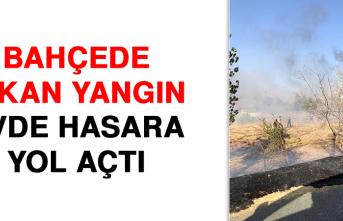 Elazığ'da Bahçede Çıkan Yangın Evde Hasara Yol Açtı