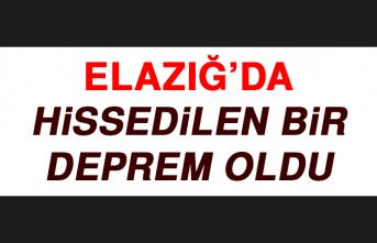ELAZIĞ'DA HİSSEDİLEN BİR DEPREM OLDU!