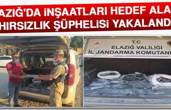 Elazığ'da İnşaatları Hedef Alan 2 Hırsızlık Şüphelisi Yakalandı