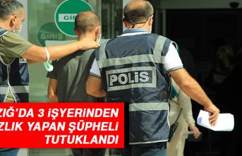 Elazığ'da 3 İşyerinden Hırsızlık Yapan Şüpheli Tutuklandı