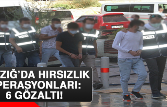 Elazığ'da Hırsızlık Operasyonları: 6 Gözaltı