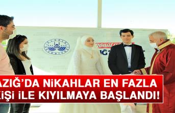Elazığ'da Nikahlar En Fazla 10 Kişi İle Kıyılmaya Başlandı!