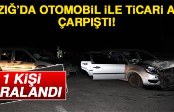 Elazığ'da Otomobil İle Ticari Araç Çarpıştı! 1 Kişi Yaralandı