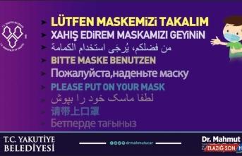 Erzurum'da doktor belediye başkanından Kovid-19'a karşı 10 dilde maske uyarısı