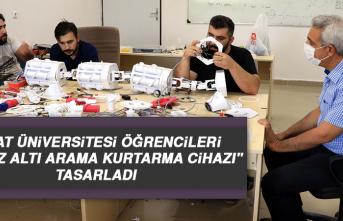 """Fırat Üniversitesi Öğrencileri """"Enkaz Altı Arama Kurtarma Cihazı"""" Tasarladı"""