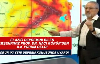Hemşehrimiz Prof. Dr. Naci Görür Malatya Depreminin Ardından İki Yeri Uyardı