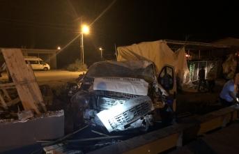 Iğdır'da filyasyon ekibi kaza yaptı: 2 yaralı
