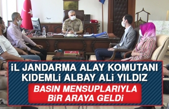 İl Jandarma Komutanı Yıldız, Medya Temsilcileriyle Bir Araya Geldi