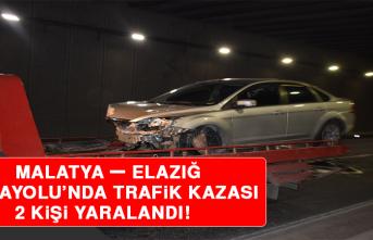 Malatya – Elazığ Karayolu'nda Trafik Kazası: 2 Yaralı