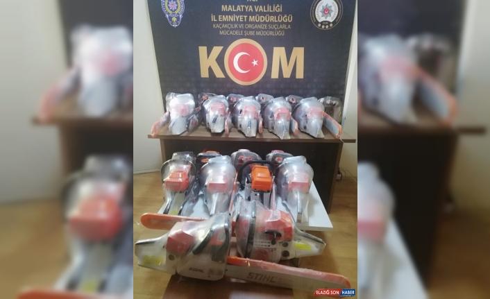 Malatya'da gümrük kaçağı 20 hızar makinesi ele geçirildi