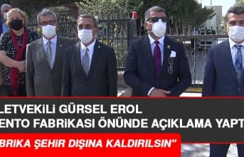 Milletvekili Erol, Elazığ Çimento Fabrikası Önünde Açıklama Yaptı