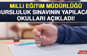 Milli Eğitim Müdürlüğü Bursluluk Sınavının Yapılacağı Okulları Açıkladı