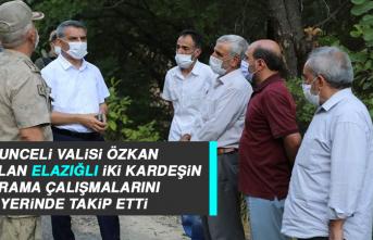 Tunceli Valisi Özkan, Kaybolan Elazığlı İki Kardeşin Arama Çalışmalarını Yerinde Takip Etti