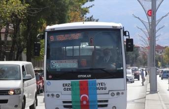 Azerbaycan'a destek için Erzincan sokaklarında