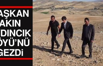 Başkan Akın, Aydıncık Köyü'nü Gezdi