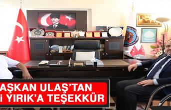 Başkan Ulaş'tan Vali Yırık'a Teşekkür