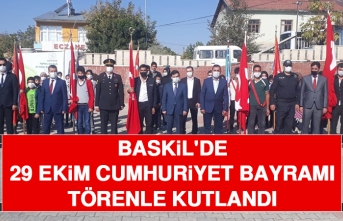 Baskil'de 29 Ekim Cumhuriyet Bayramı Törenle Kutlandı